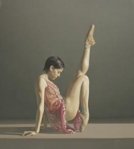 Bailarina con vestido rosa » Sergio Martínez Cifuentes