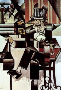 Hombre en un café » Juan Gris